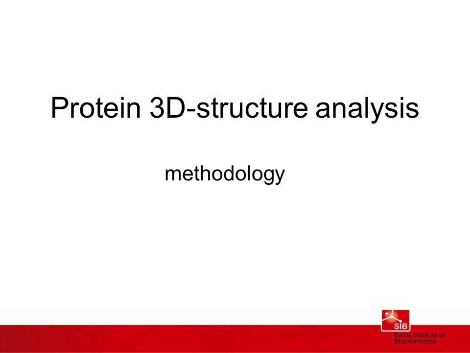 Protein 3D-structure analysis methodology