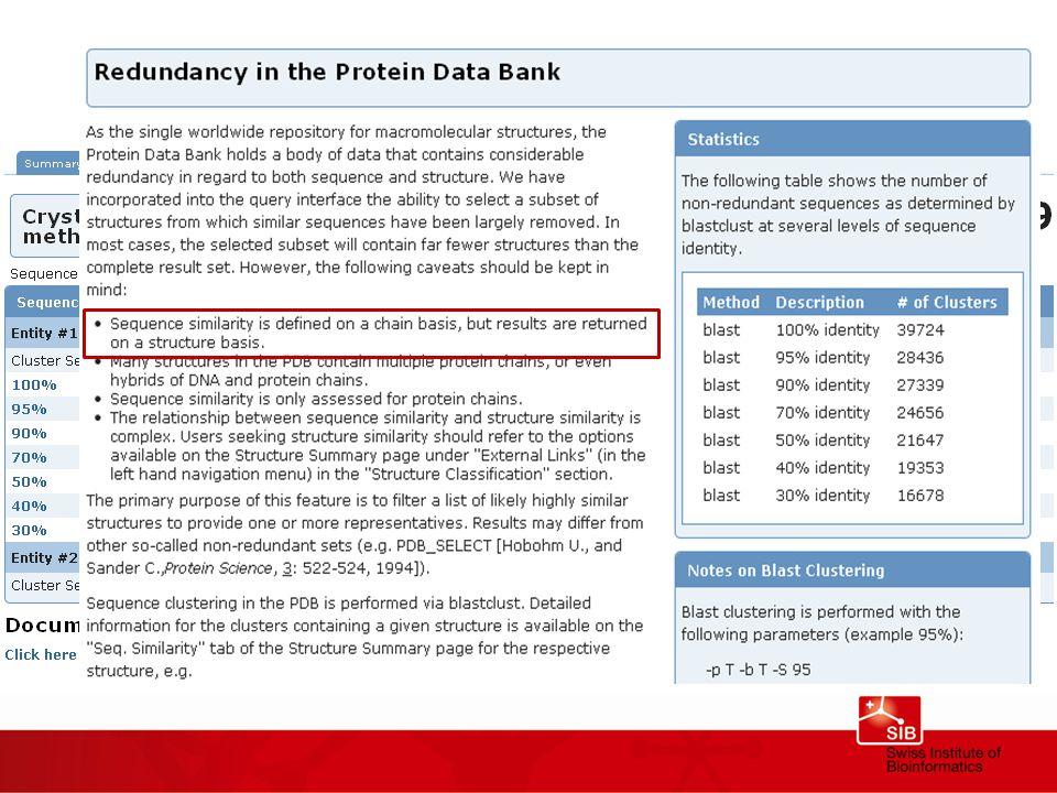 Why so few similar proteins