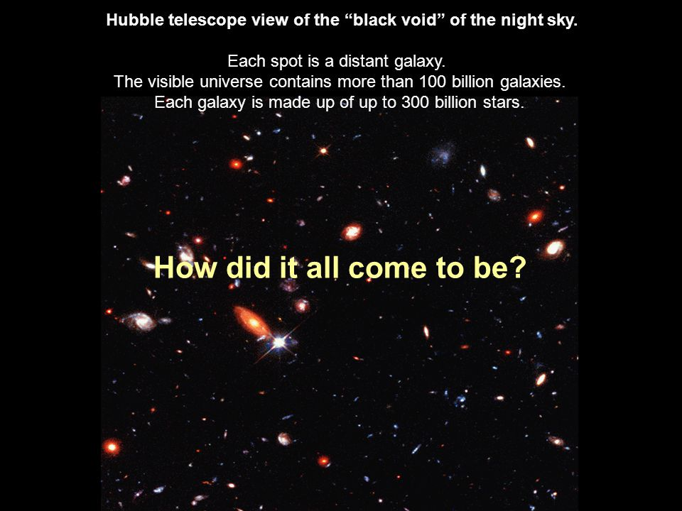 R. Williams (ST Scl)-NASA Hubble telescope view of the black void of the night sky.