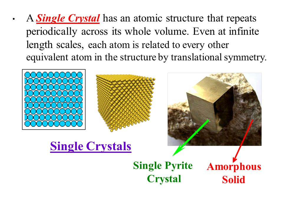 Polycrystalline Solids A Polycrystalline Solid is made up of an aggregate of many small single crystals (crystallites or grains).