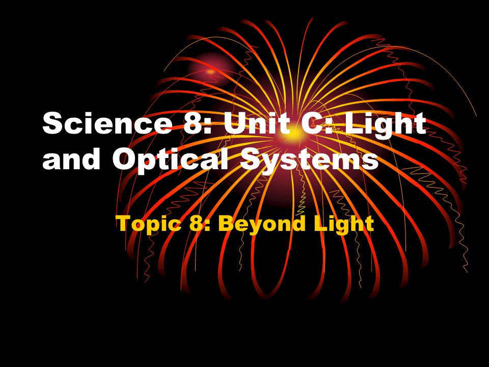 Science 8: Unit C: Light and Optical Systems Topic 8: Beyond Light