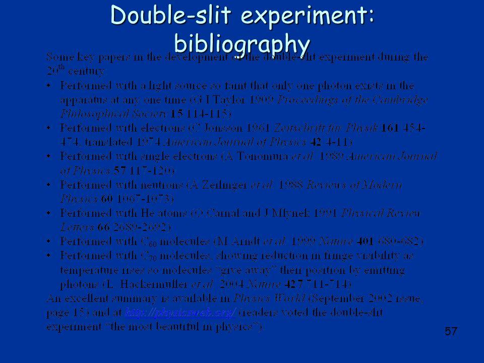 57 Double-slit experiment: bibliography