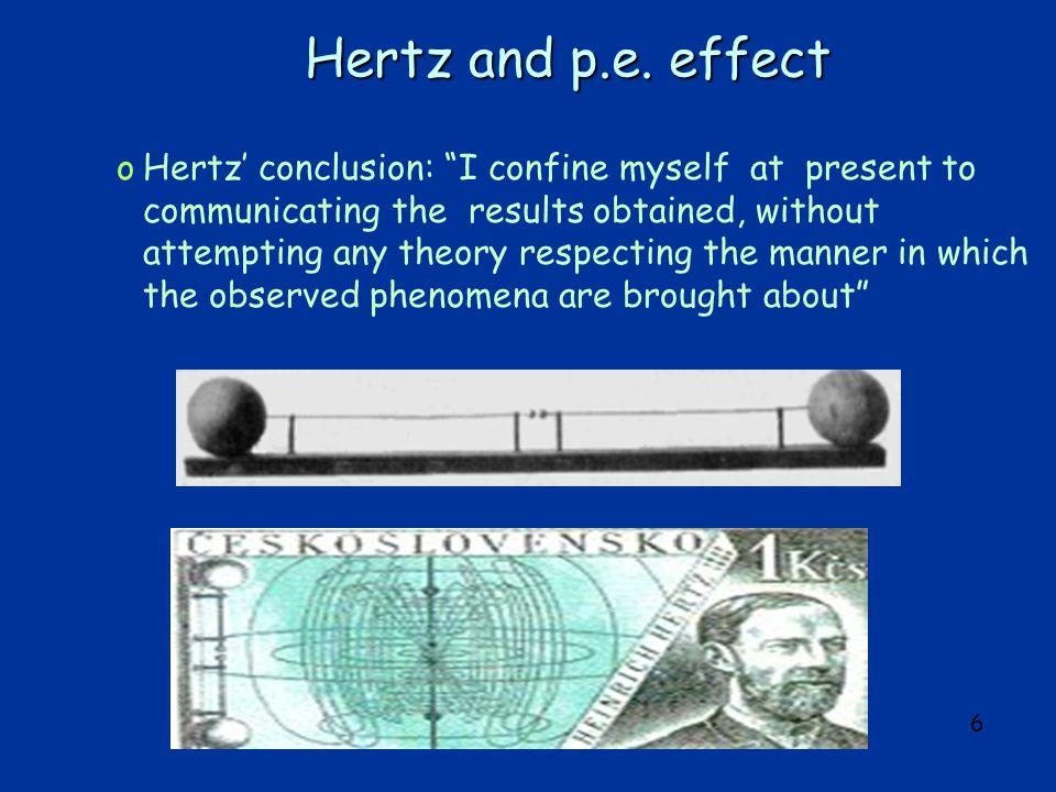 6 Hertz and p.e.