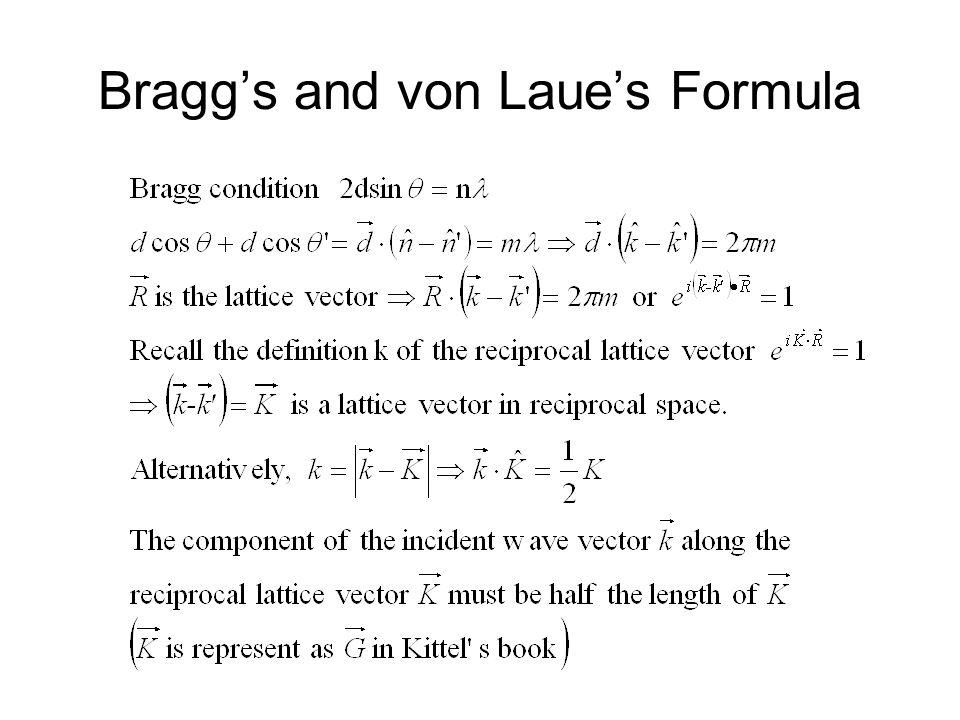 Bragg's and von Laue's Formula