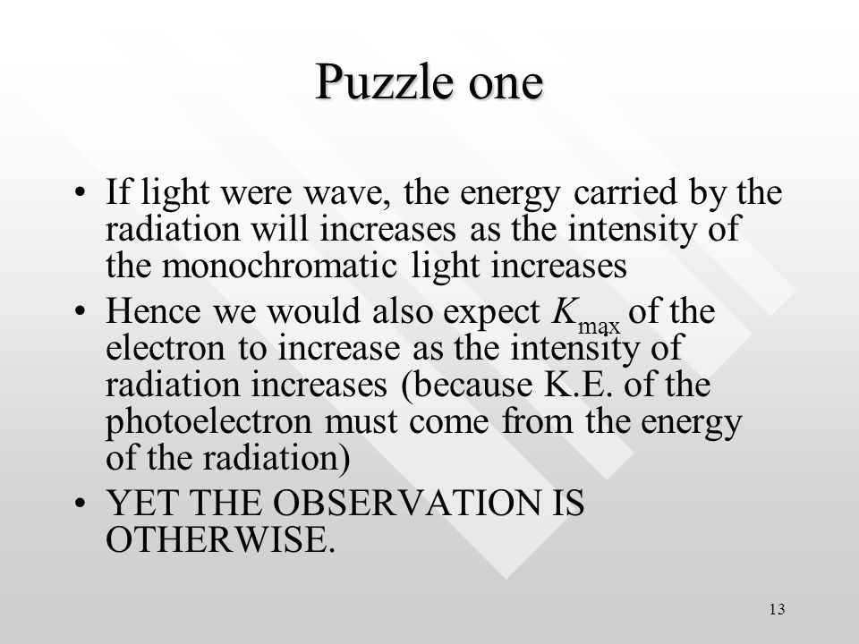 12 Classical physics can't explain PE The experimental results of PE pose difficulty to classical physicists as they cannot explain PE effect in terms of classical physics (Maxwell EM theory, thermodynamics, classical mechanics etc.)The experimental results of PE pose difficulty to classical physicists as they cannot explain PE effect in terms of classical physics (Maxwell EM theory, thermodynamics, classical mechanics etc.)
