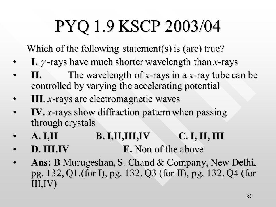 88 PYQ 1.