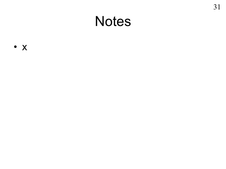Notes x 31