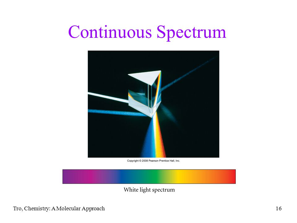 Tro, Chemistry: A Molecular Approach16 Continuous Spectrum