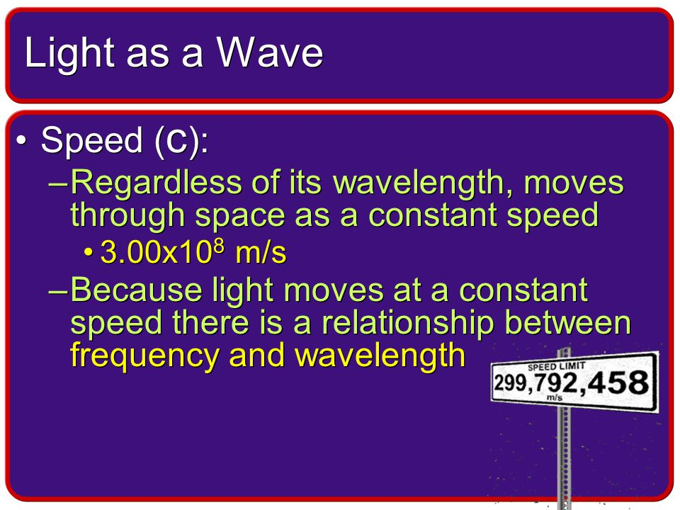 It is a mathematical relationship between wavelength and the freq- uency of a wave.