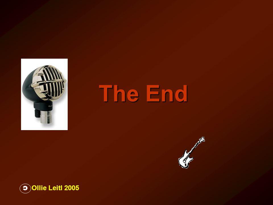 The End Ollie Leitl 2005