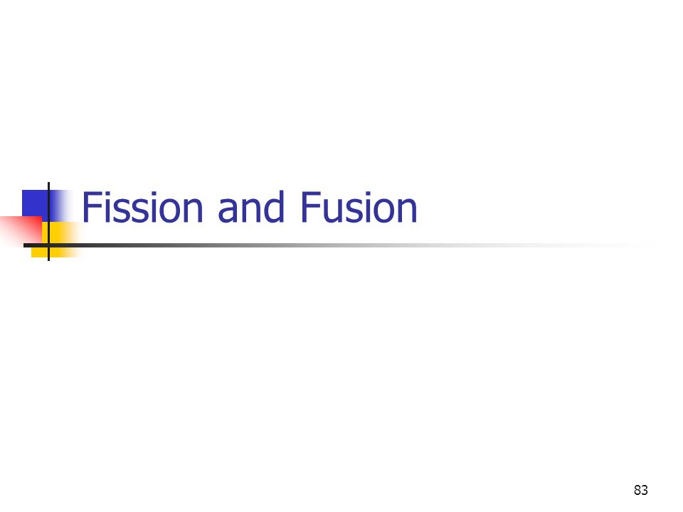 83 Fission and Fusion