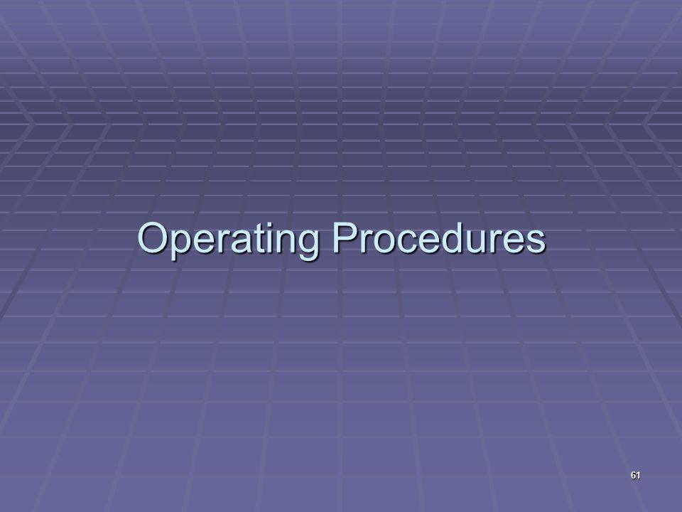 Operating Procedures 61