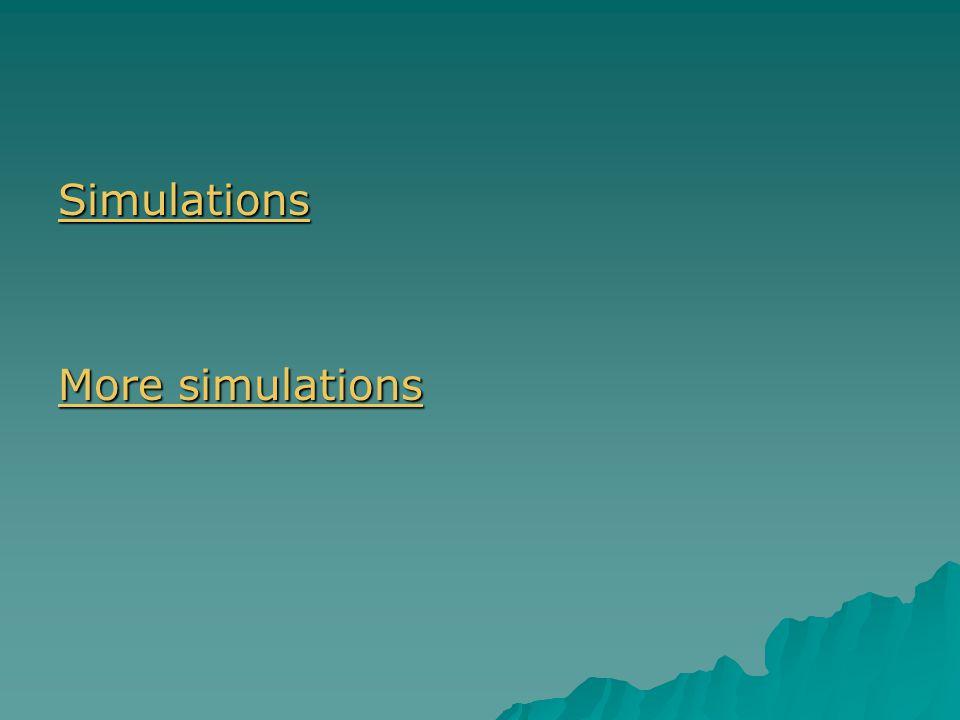 Simulations More simulations More simulations