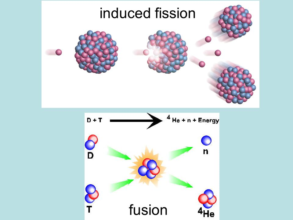 1 neutron in 3 neutrons out First nuclear weapons and reactors used fission