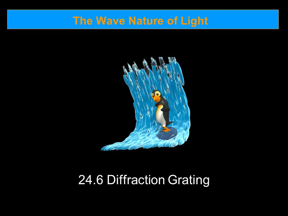The Wave Nature of Light 24.6 Diffraction Grating