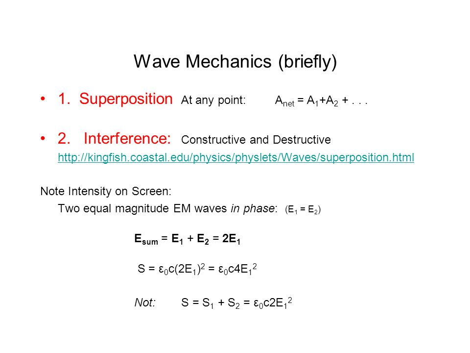 Superposition & Interference of Waves