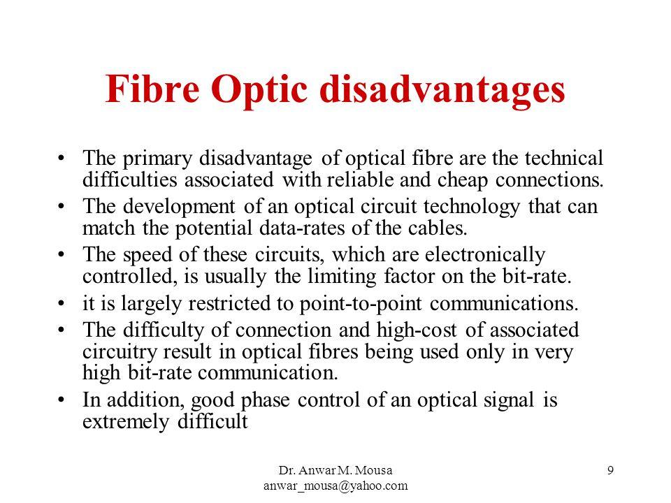 Dr.Anwar M. Mousa anwar_mousa@yahoo.com 10 Fibre Optic, Modes Optical fibre is a waveguide.