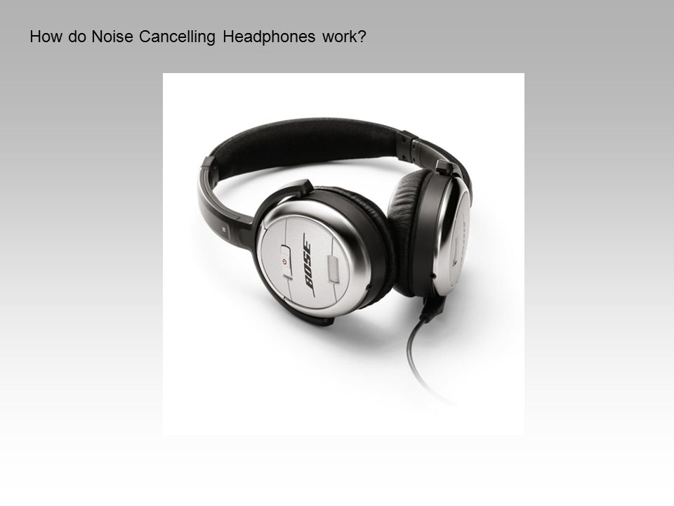How do Noise Cancelling Headphones work?