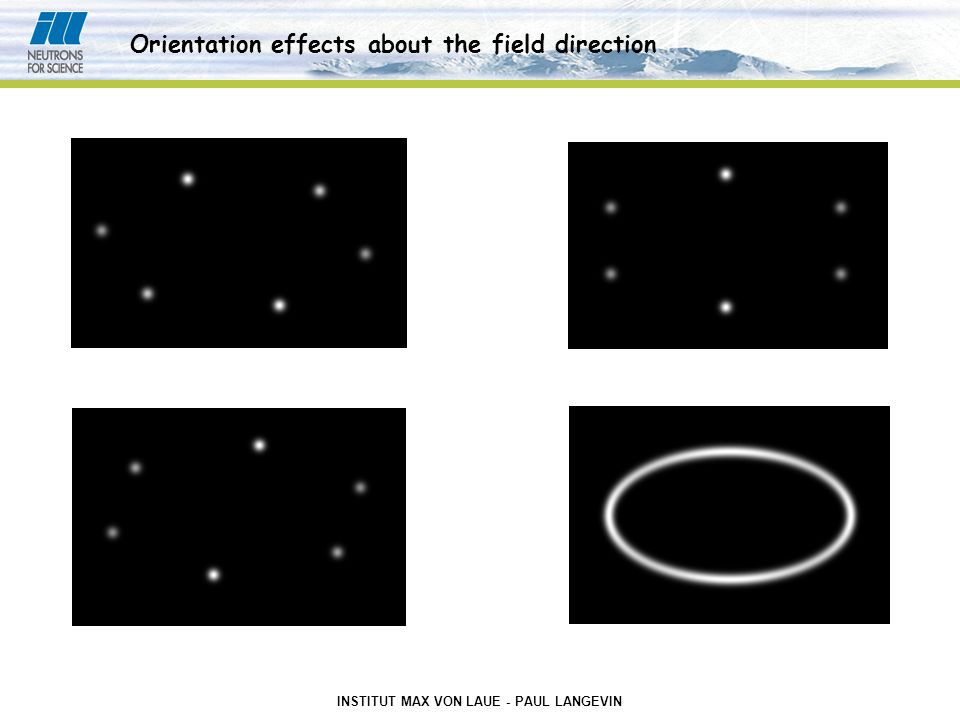 INSTITUT MAX VON LAUE - PAUL LANGEVIN Orientation effects about the field direction