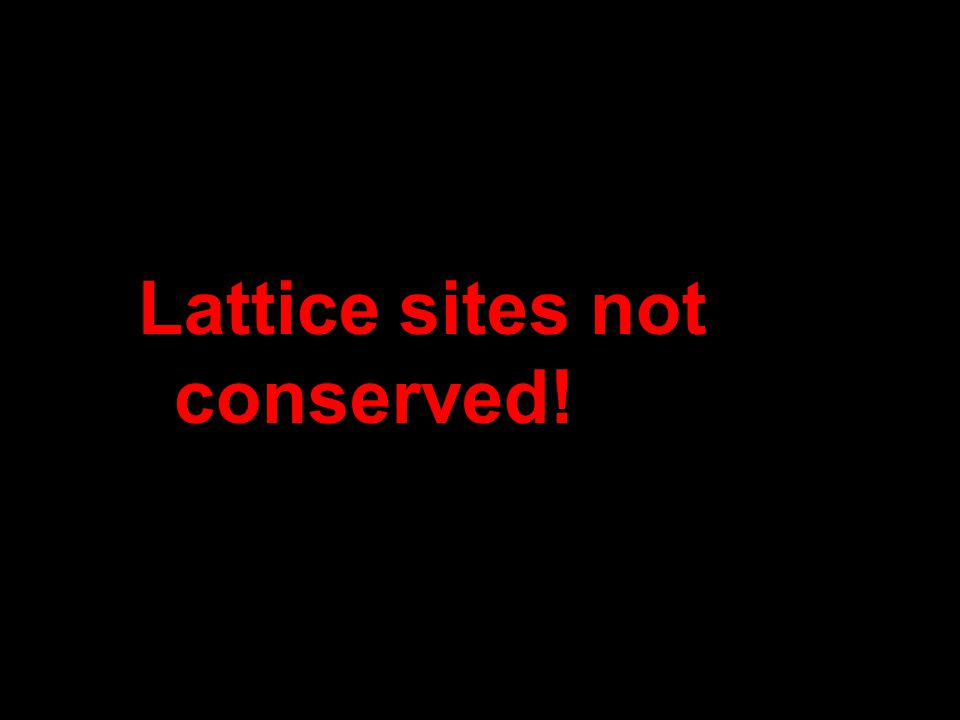 Lattice sites not conserved!