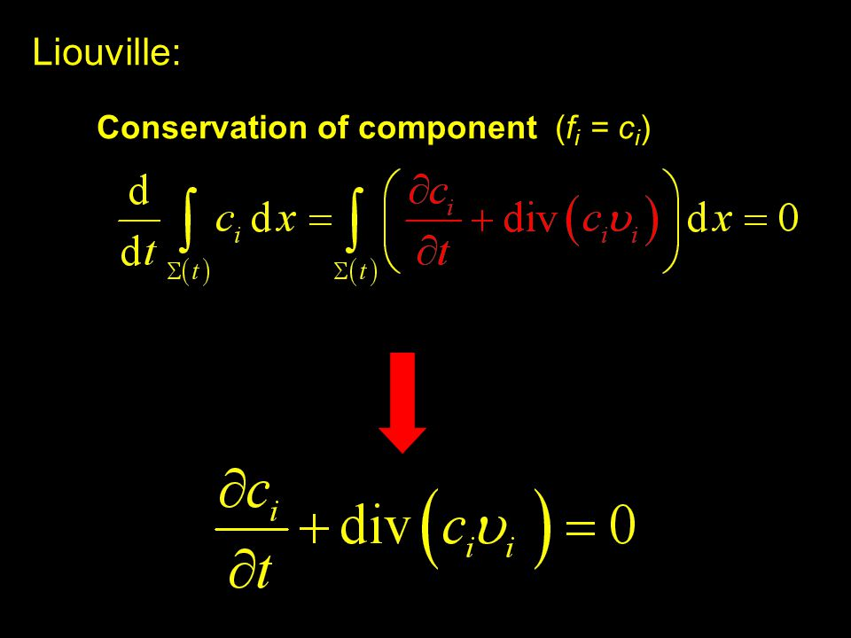 Liouville: Conservation of component (f i = c i )
