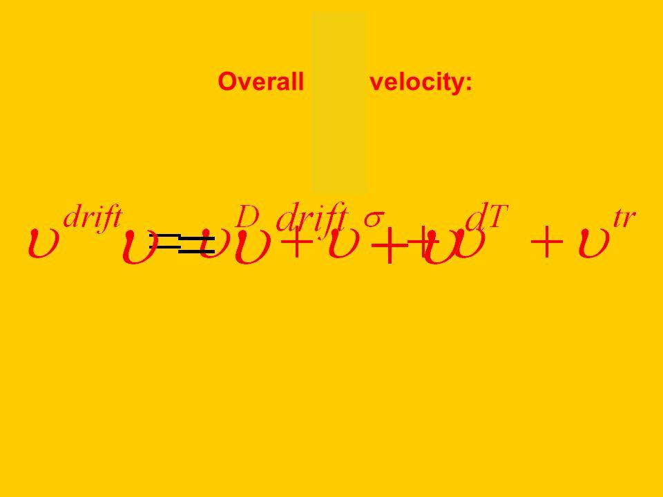 Overall drift velocity: