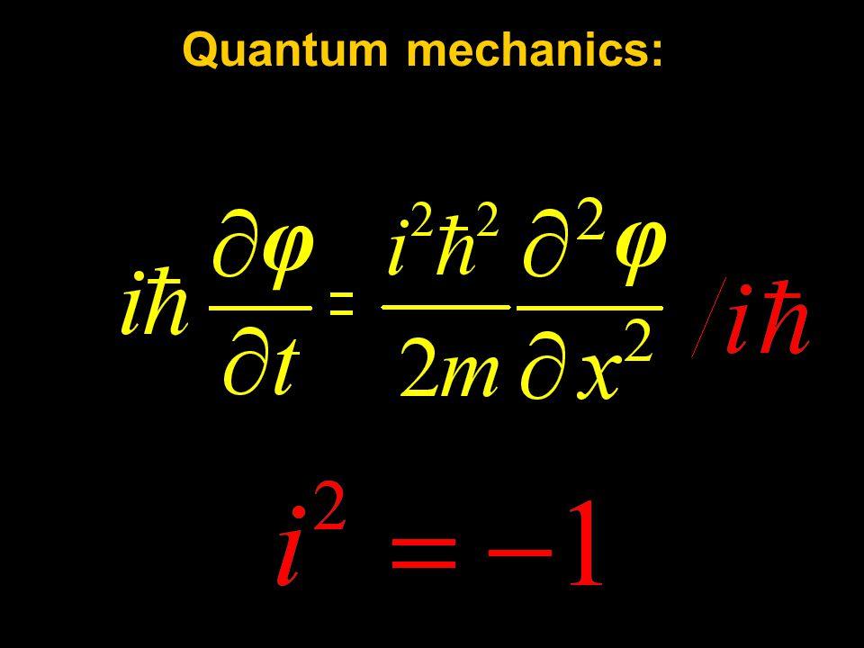 Quantum mechanics: φ φ