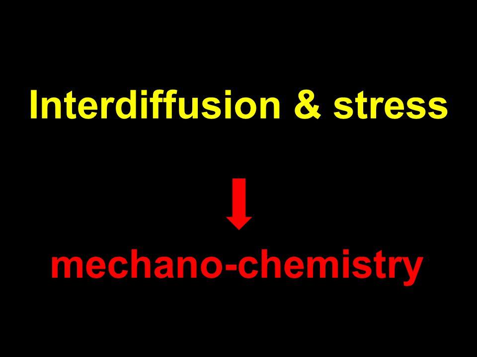 Interdiffusion & stress mechano-chemistry
