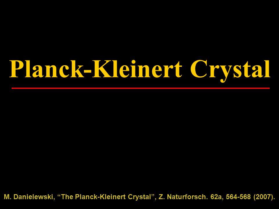 Planck-Kleinert Crystal M. Danielewski, The Planck-Kleinert Crystal , Z.