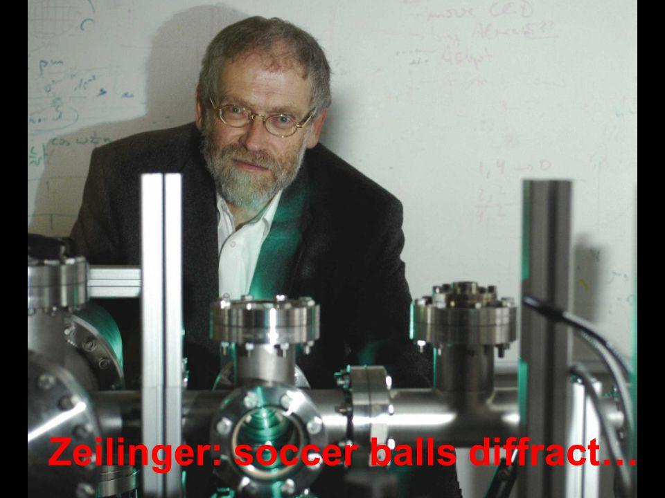 http://www.quantum.univie.ac.at/research/c60/ Zeilinger: soccer balls diffract…