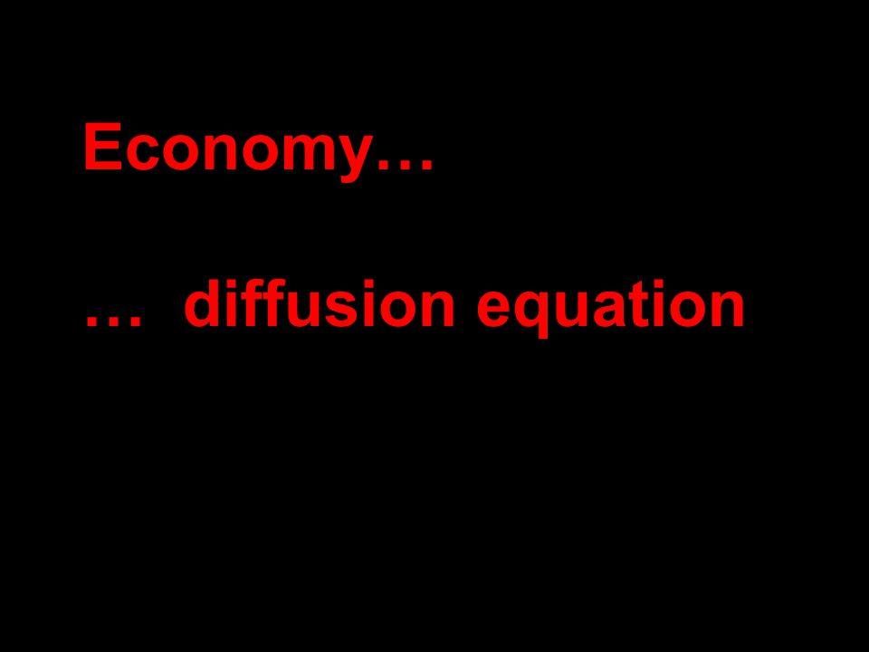 Economy… … diffusion equation
