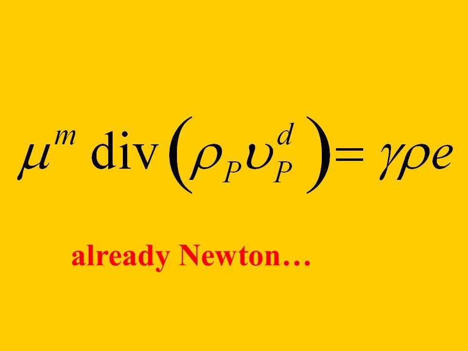 already Newton…