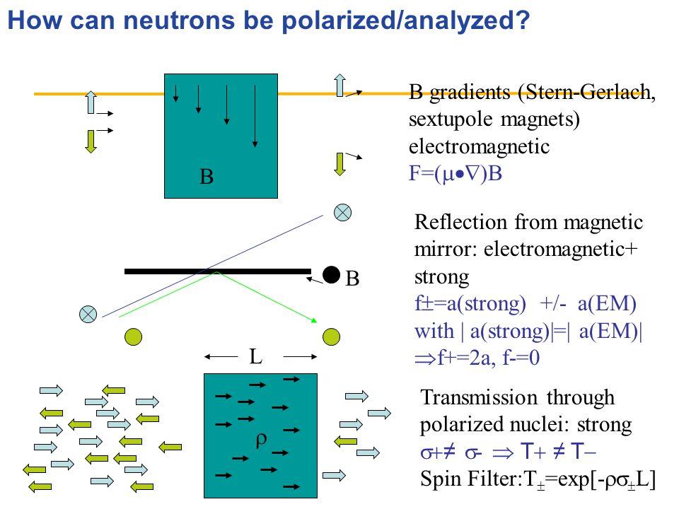 How can neutrons be polarized/analyzed.
