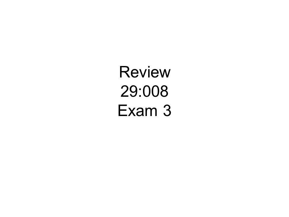 Review 29:008 Exam 3