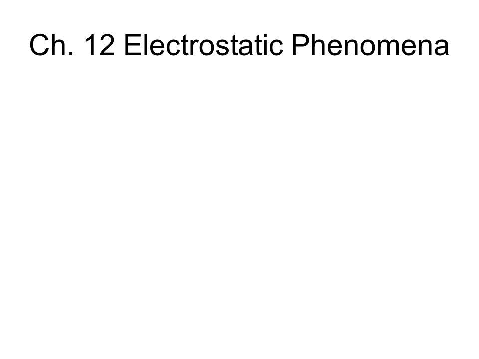 Ch. 12 Electrostatic Phenomena