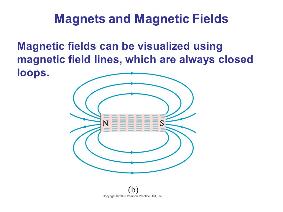 Magnets and Magnetic Fields Magnetic fields can be visualized using magnetic field lines, which are always closed loops.