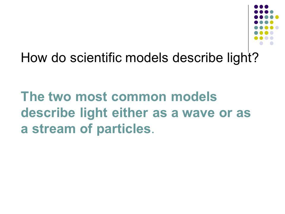 〉 How do scientific models describe light.