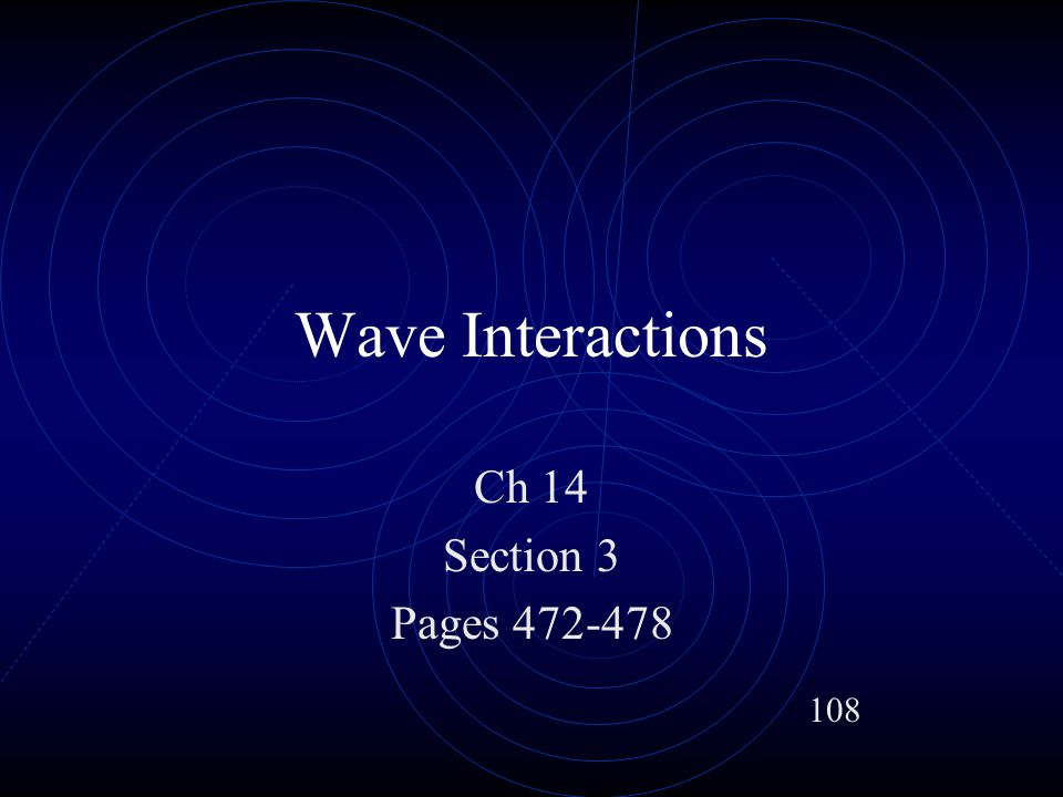 Destructive Interference Waves crests and troughs align and result in cancellation Used in anti-noise technology 113