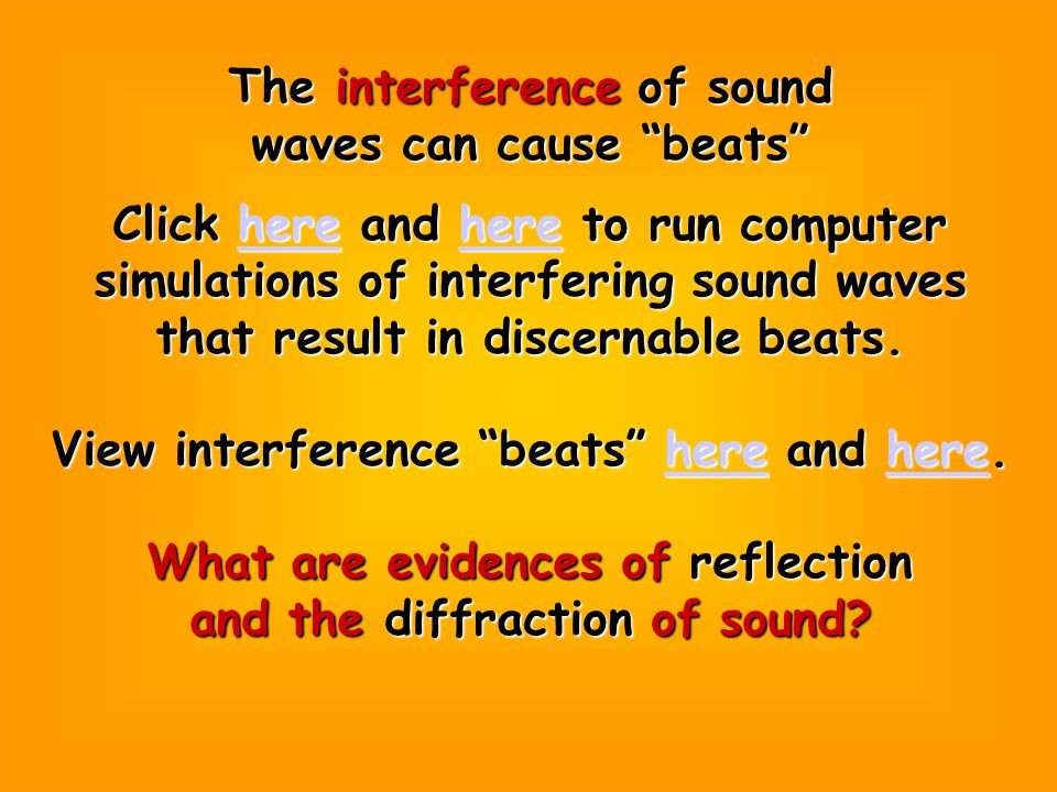Sound waves refract. Click here to view a simulation here of the refraction of sound waves.