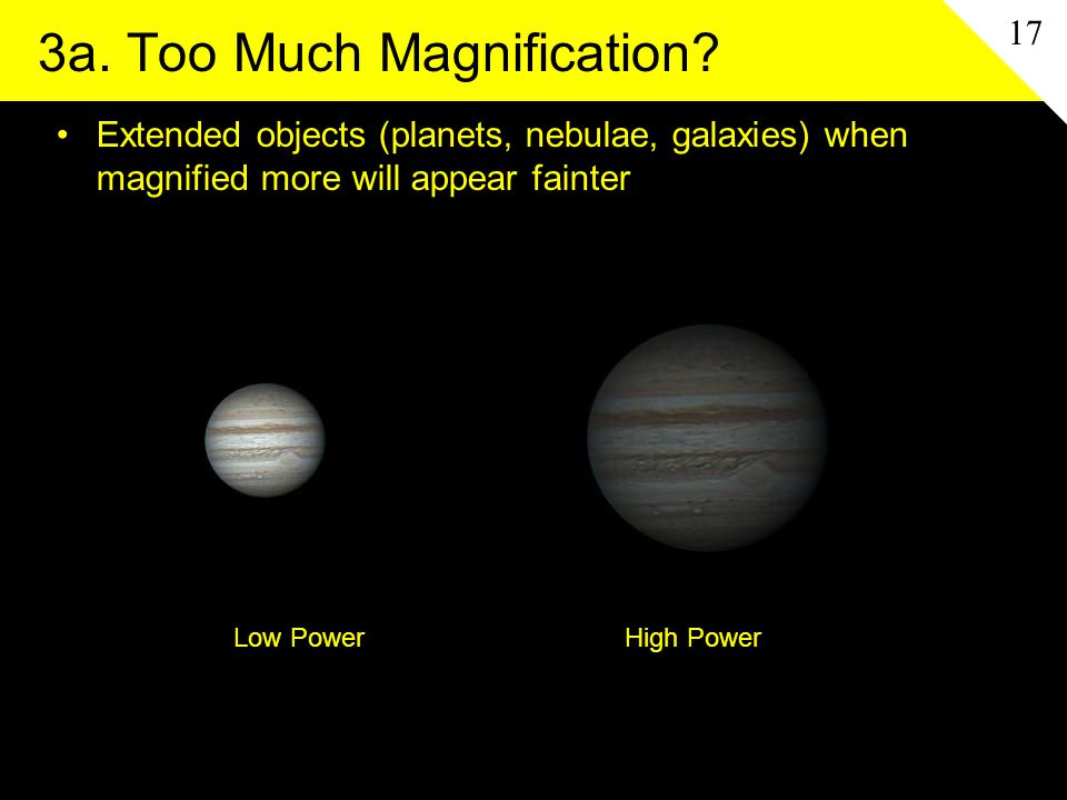 3a. Too Much Magnification.
