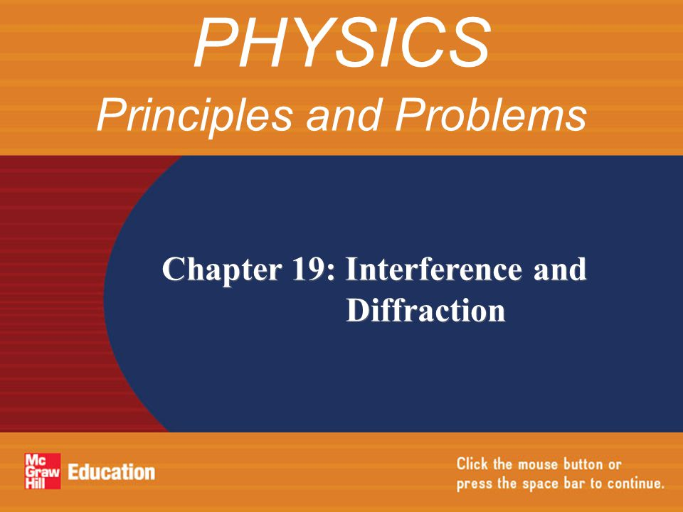 Reflection from a Thin Film Chapter Resources CHAPTER 19 Interference and Diffraction