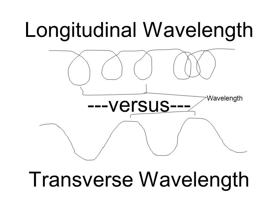 Longitudinal Wavelength ---versus--- Transverse Wavelength Wavelength