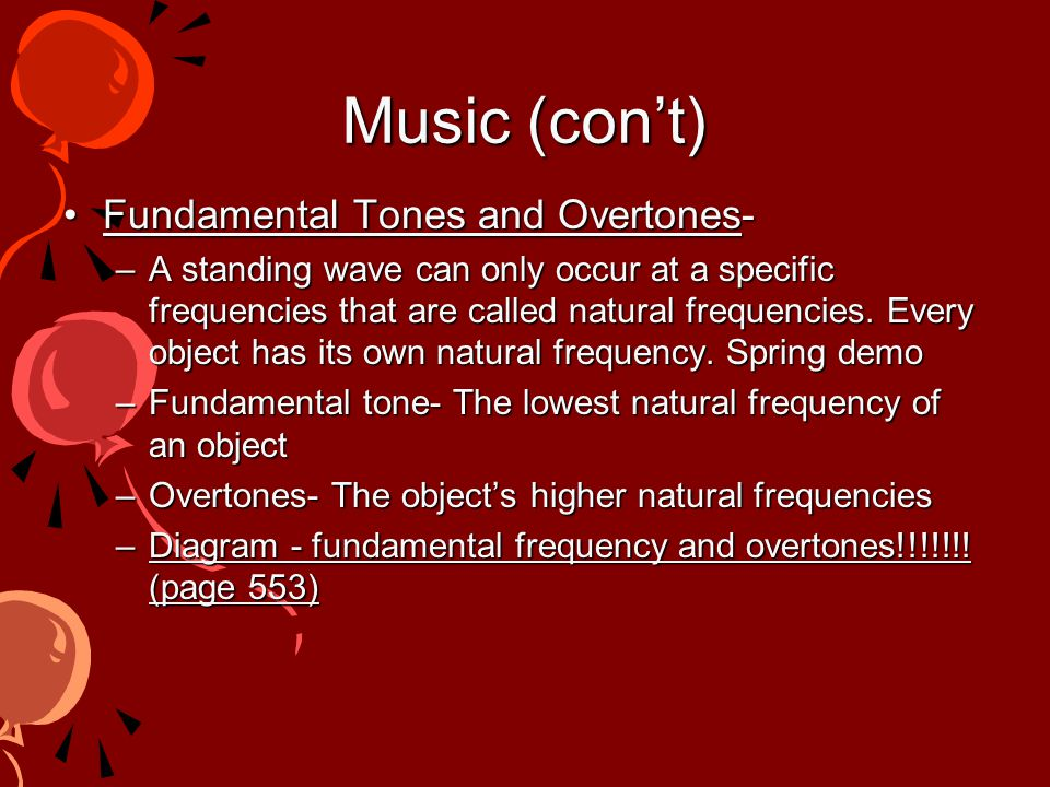 Section 3 - Music Music - a set of notes (tones) that combine in patterns that are pleasing Noise - has no pleasing timbre and no identifiable pitch –