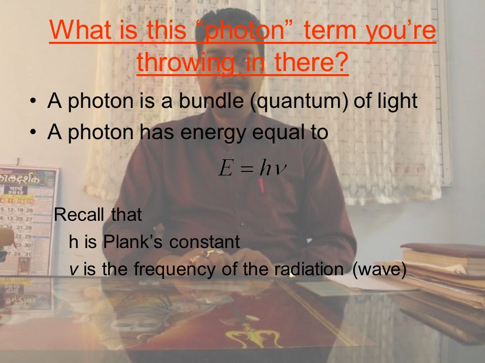 What is this photon term you're throwing in there.