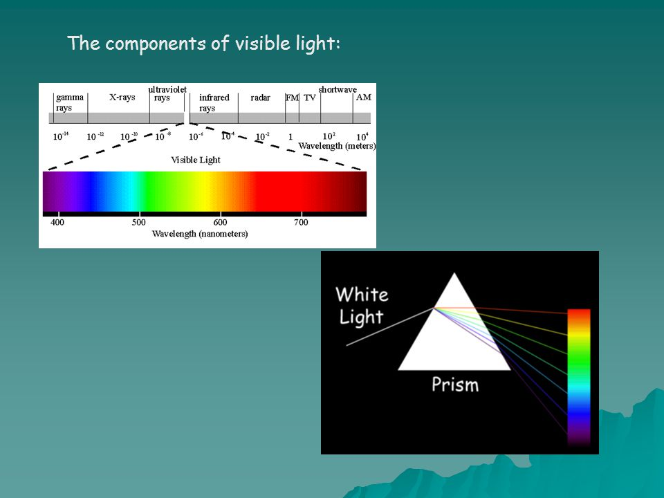 The components of visible light: