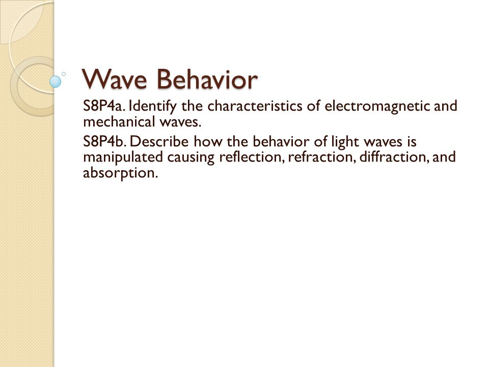 Reflection Reflection occurs when a wave strikes an object or surface and bounces off.