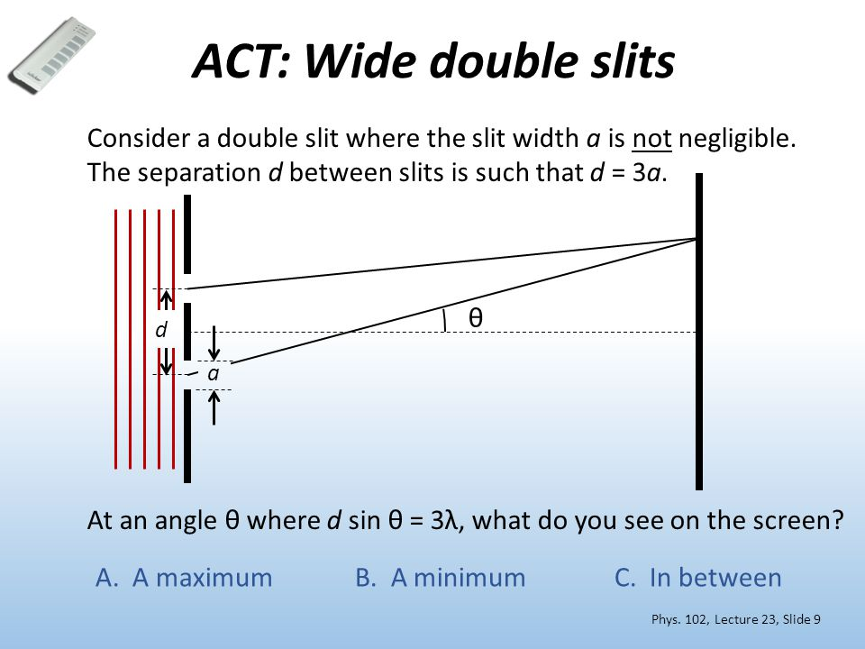 ACT: Wide double slits Phys.