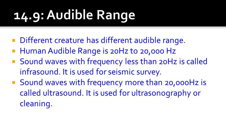  Different creature has different audible range.