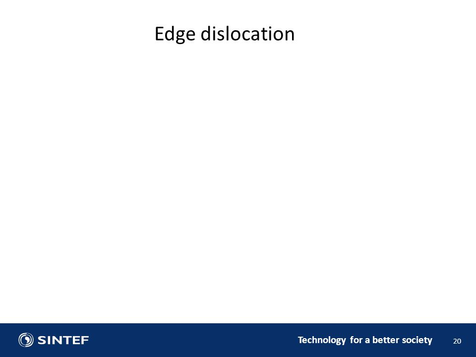 Technology for a better society 20 Edge dislocation