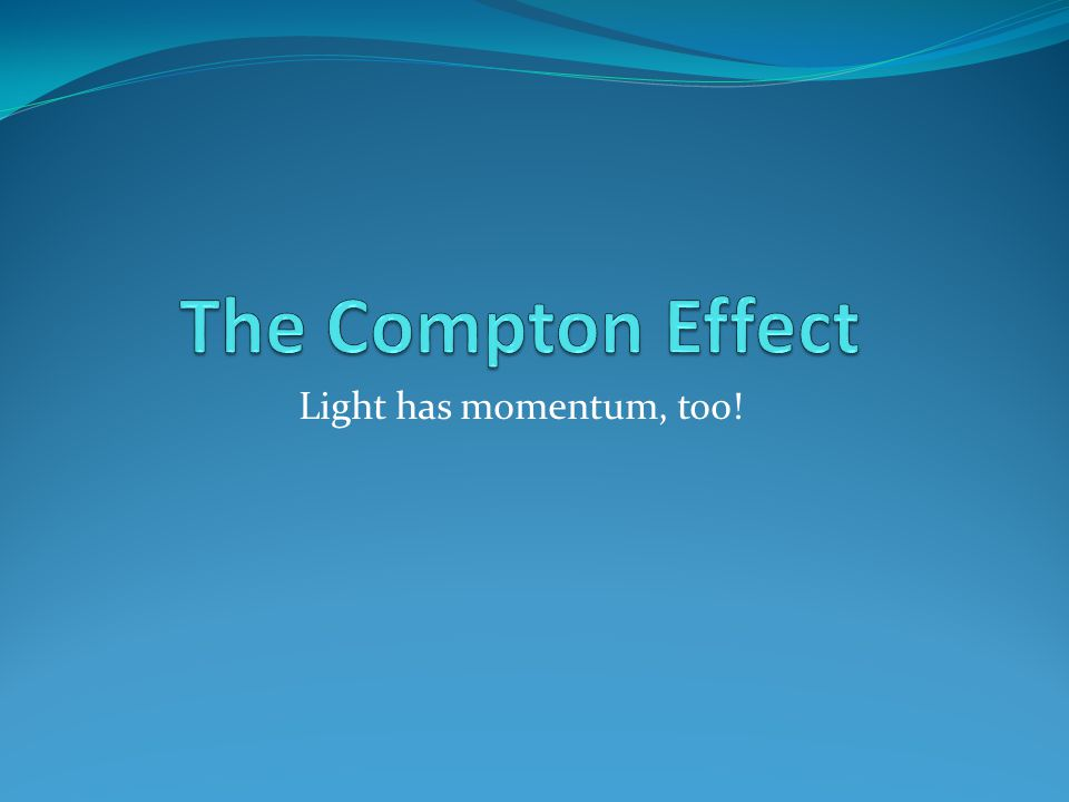 Light has momentum, too!